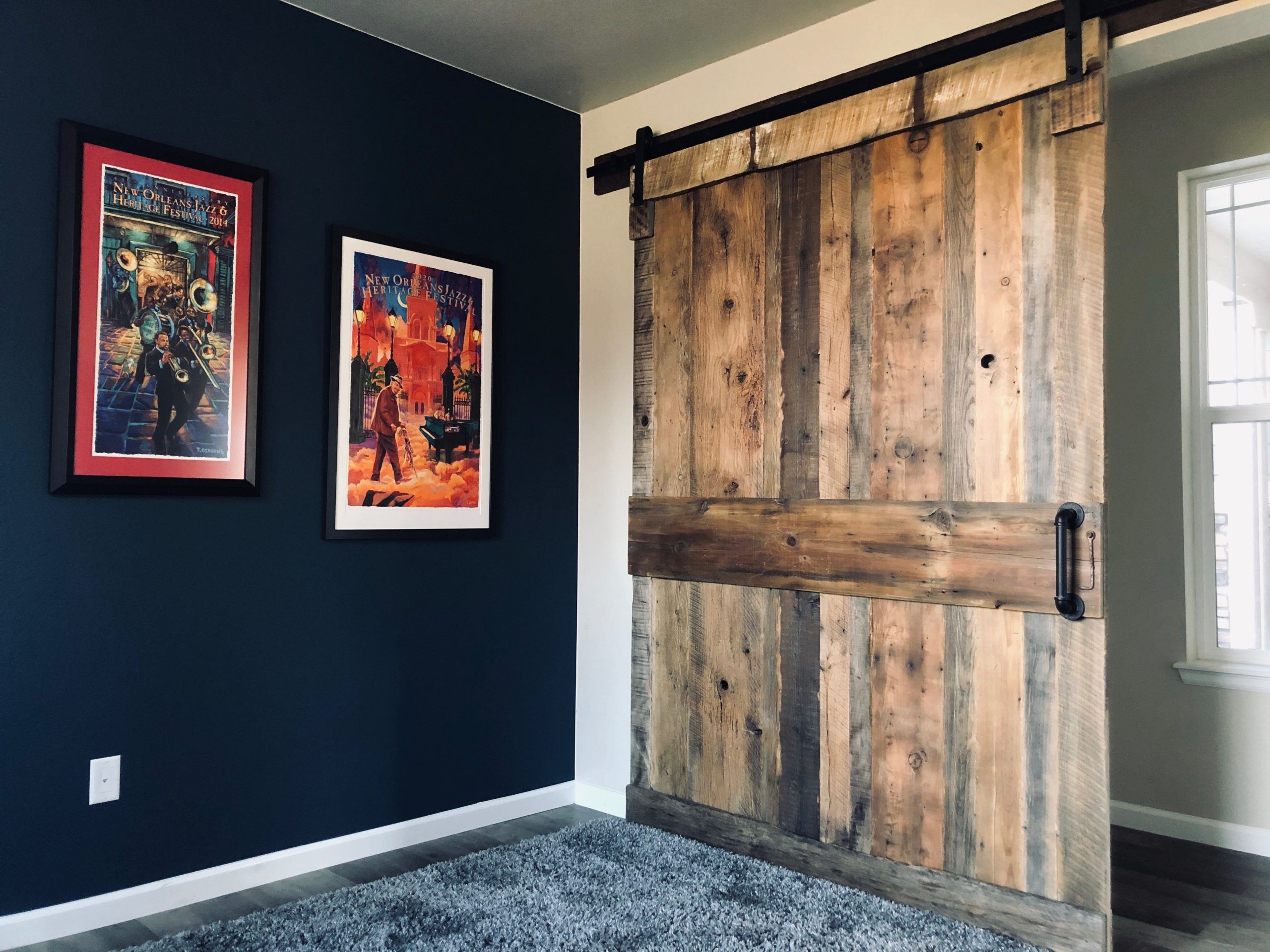 Sliding Full Frame Reclaimed Wood Door