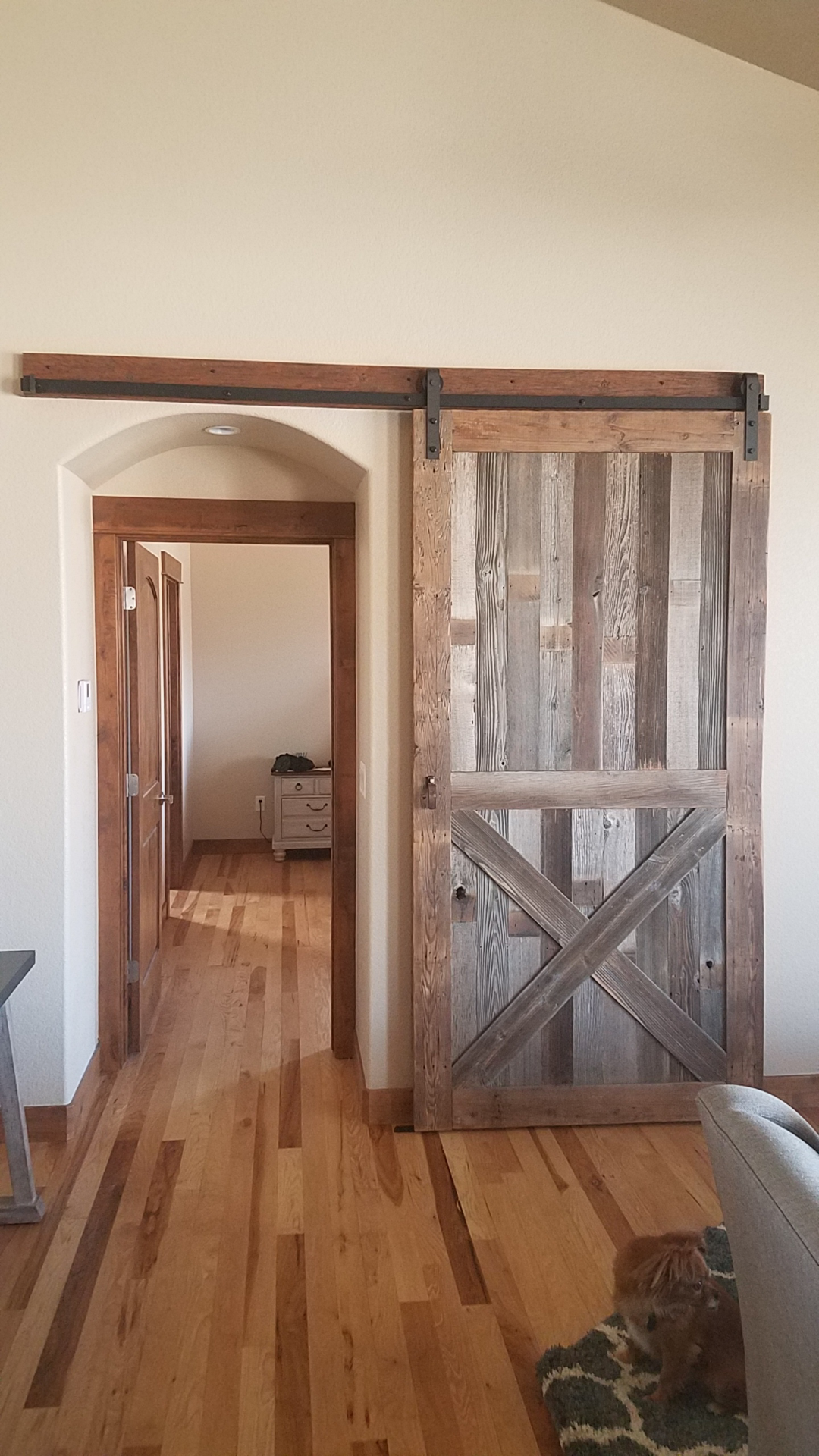 Framed Single X Sliding Barn Door