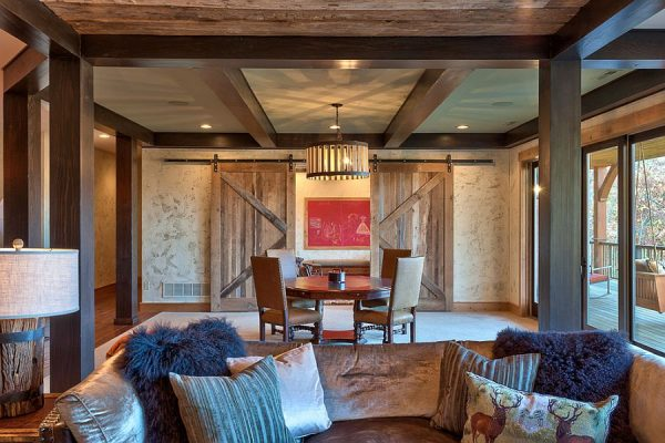 Rustic-living-room-with-sliding-barn-doors